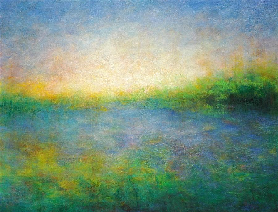 Paintings For Sale Online Part - 41: Original Art For Sale At UGallery.com | Along The River By VICTORIA VEEDELL  |