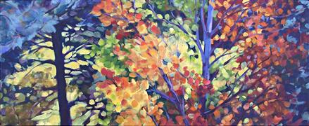 impressionism art,nature art,acrylic painting,Blending Species