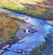 impressionism art,landscape art,pastel artwork,Crossing the Crooked
