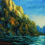 Landscape art,Nature art,oil painting,River's Edge