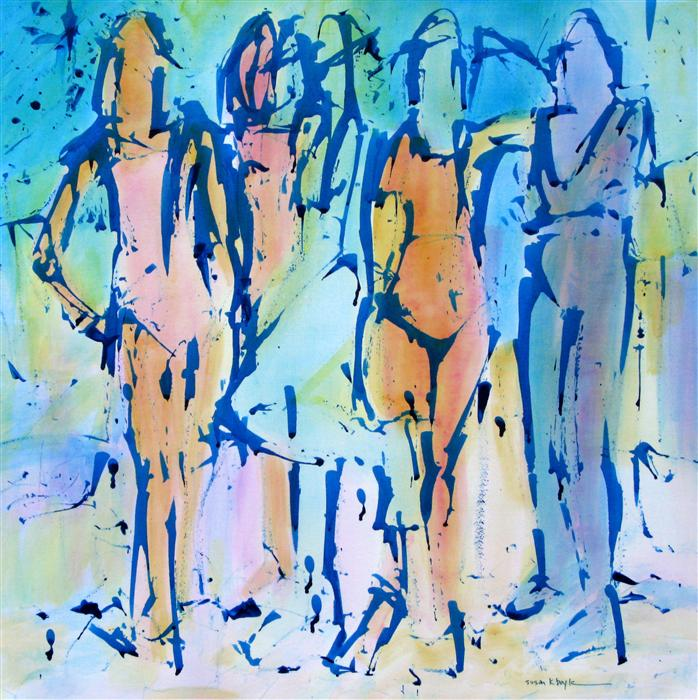 Original art for sale at UGallery.com | The Fauve Five by SUSAN K BOYLE | $550 | Acrylic painting | 22' h x 22' w | ..\art\acrylic-painting-The-Fauve-Five
