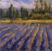 impressionism art,landscape art,nature art,oil painting,French Lavender