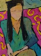 Expressionism art,People art,acrylic painting,Layla