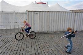 Children's art,City art,photography,Boy with Sword