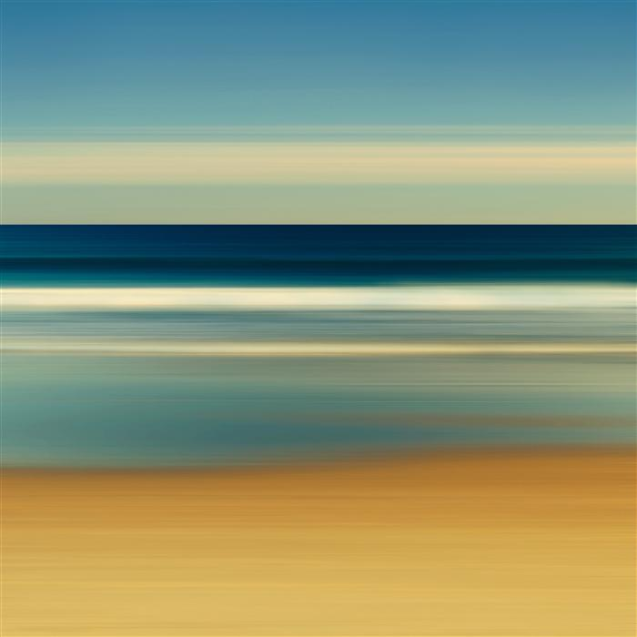 Original art for sale at UGallery.com | Sea Stripes by Katherine Gendreau | $275 | photography | 20' h x 20' w | ..\art\photography-Sea-Stripes