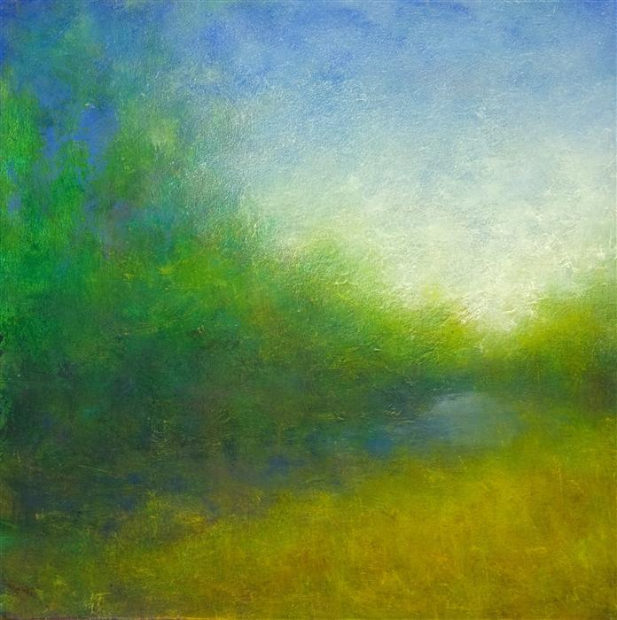 Original art for sale at UGallery.com | August Walk by VICTORIA VEEDELL | $450 |  | 12' h x 12' w | ..\art\oil-painting-August-Walk