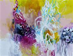 Abstract art,Nature art,Flora art,acrylic painting,Match Point