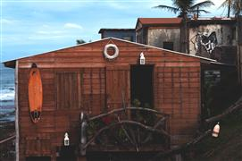 buildings art,seascape art,photography,Puerto Rican Beach Shack
