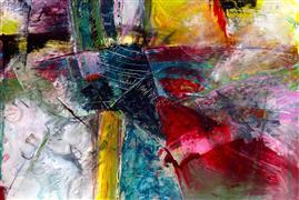 Abstract art,Expressionism art,mixed media artwork,Lucky 5