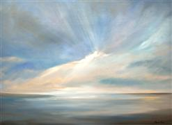 impressionism art,nature art,seascape art,oil painting,Passing Light