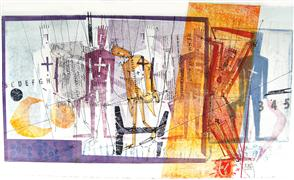 Abstract art,People art,printmaking,VictoryAndDefeat