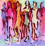 Expressionism art,People art,Street Art art,Representational art,acrylic painting,Carnival Krewe