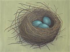 animals art,still life art,acrylic painting,The Nest Of Our Dreams