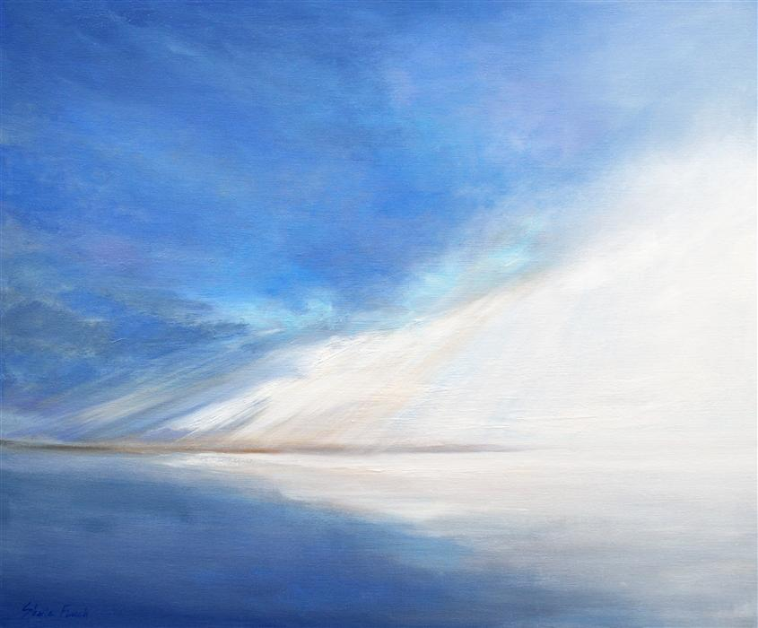 Original art for sale at UGallery.com | Light on the Bay by SHEILA FINCH | $2,300 | Oil painting | 20' h x 24' w | ..\art\oil-painting-Light-on-the-Bay