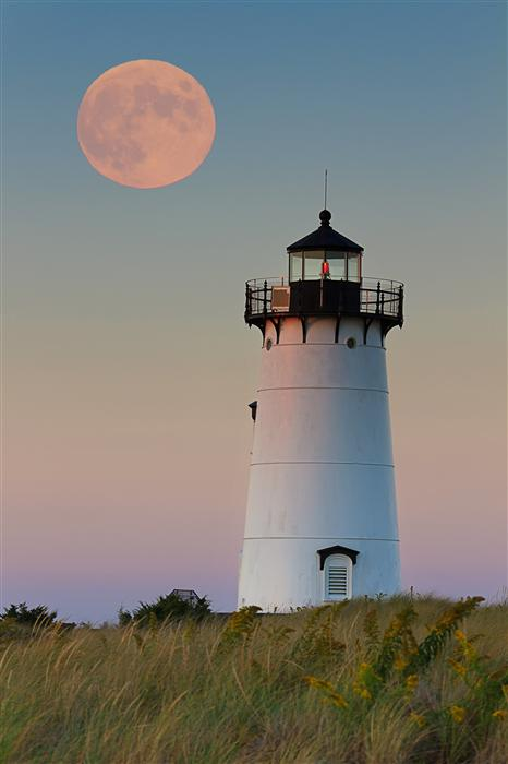 Original art for sale at UGallery.com | Moon over Martha's Vineyard by Katherine Gendreau | $350 | photography | 24' h x 16' w | ..\art\photography-Moon-over-Martha-s-Vineyard