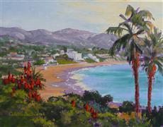 Nature art,Seascape art,oil painting,Laguna View