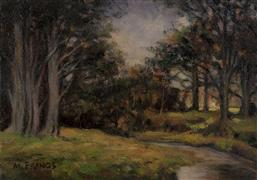 landscape art,nature art,oil painting,Woodland Brook