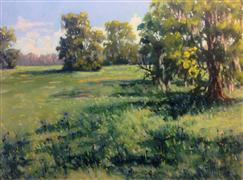 impressionism art,landscape art,oil painting,Collins Field Spring
