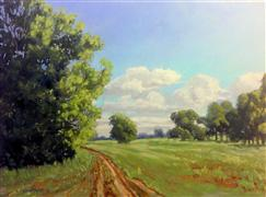 landscape art,nature art,oil painting,Trail