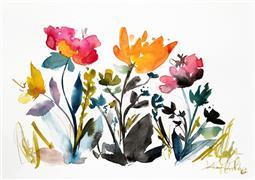 nature art,botanical art,watercolor painting,Island Wildflowers 2