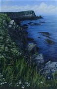 Landscape art,Seascape art,oil painting,Queen Anne's Lace on Campobello