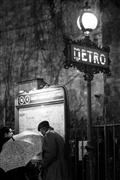 people art,city art,travel art,photography,Black and White Paris Metro