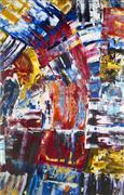 Abstract art,Expressionism art,acrylic painting,Bridge III