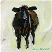 impressionism art,animals art,acrylic painting,Small Cow