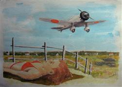landscape art,surrealism art,vroom vroom! art,mixed media artwork,Cape May/Babs