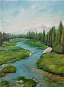 landscape art,nature art,acrylic painting,Day's Destination