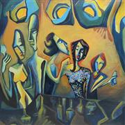 Expressionism art,People art,oil painting,Les Amies