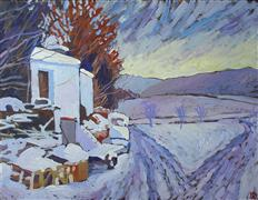 Impressionism art,Landscape art,Nature art,acrylic painting,Snow Day