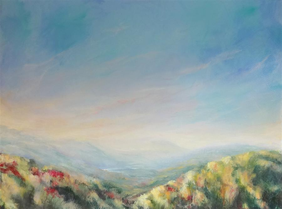 Original art for sale at UGallery.com | Ripening Stillness by CAROLE MOORE | $3,325 | Acrylic painting | 36' h x 48' w | ..\art\acrylic-painting-Ripening-Stillness