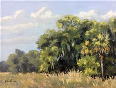 landscape art,nature art,acrylic painting,East Hay Field Palms