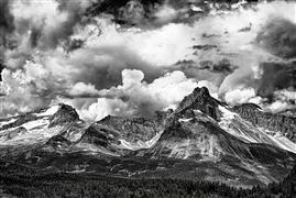 Landscape art,Nature art,photography,Canadian Rockies Building Storm