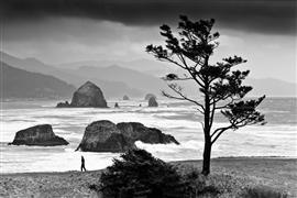 People art,Seascape art,photography,Oregon Coast Storm