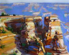 Impressionism art,Landscape art,Western art,oil painting,South Rim Grand Canyon