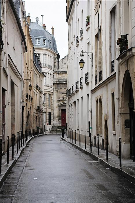 Original art for sale at UGallery.com | Quiet Morning in the Marais by Rebecca Plotnick | $375 | photography | 36' h x 24' w | ..\art\photography-Quiet-Morning-in-the-Marais