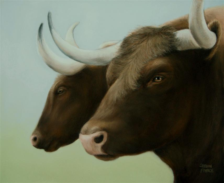 Original art for sale at UGallery.com | Best Buddies by SHARON  FRANCE | $850 |  | 9' h x 11' w | ..\art\pastel-artwork-Best-Buddies