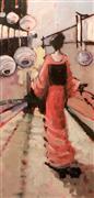 fantasy art,people art,oil painting,Walking Red