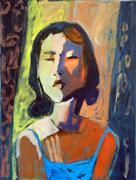 Expressionism art,People art,oil painting,Asian Woman