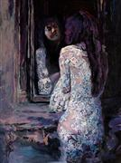 impressionism art,people art,acrylic painting,Amethyst Promises