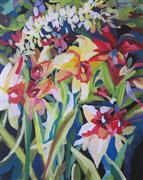 Impressionism art,Flora art,acrylic painting,Hawaiian Paradise Part I