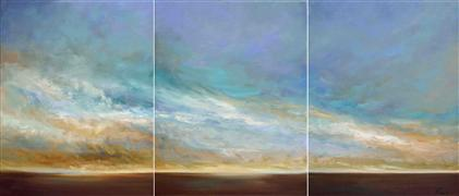 landscape art,seascape art,oil painting,Coastal Clouds XI