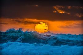 Nature art,Seascape art,photography,Atlantic Surf Sunrise