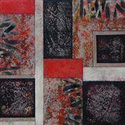 Abstract art,Expressionism art,mixed media artwork,Vintage B