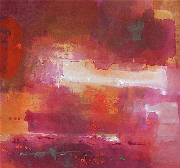 Original art for sale at UGallery.com | Red Dream by ROBIN SIERRA | $1,200 | Acrylic painting | 24' h x 27' w | ..\art\acrylic-painting-Red-Dream