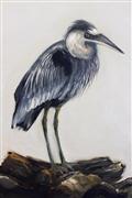 animals art,nature art,oil painting,Blue Heron