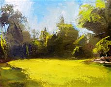 Abstract art,Landscape art,Nature art,oil painting,Huntington Gardens