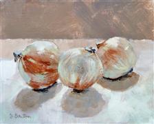 Impressionism art,Still Life art,Cuisine art,Representational art,acrylic painting,Onions